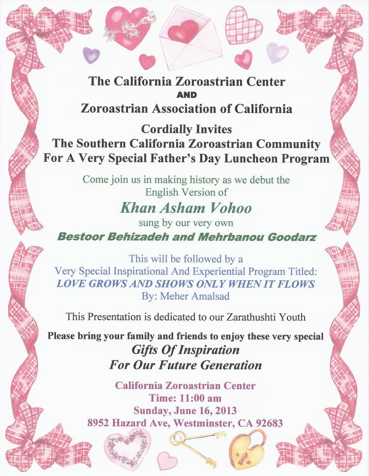 CZC-ZAC – Special Father's Day Program